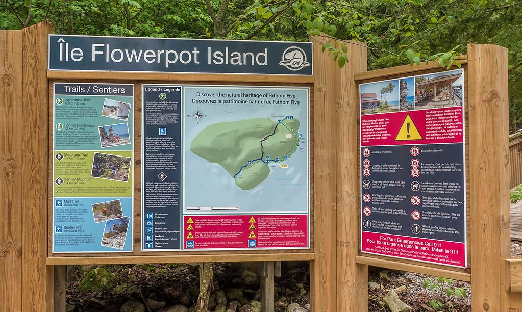 Flowerpot Island sign