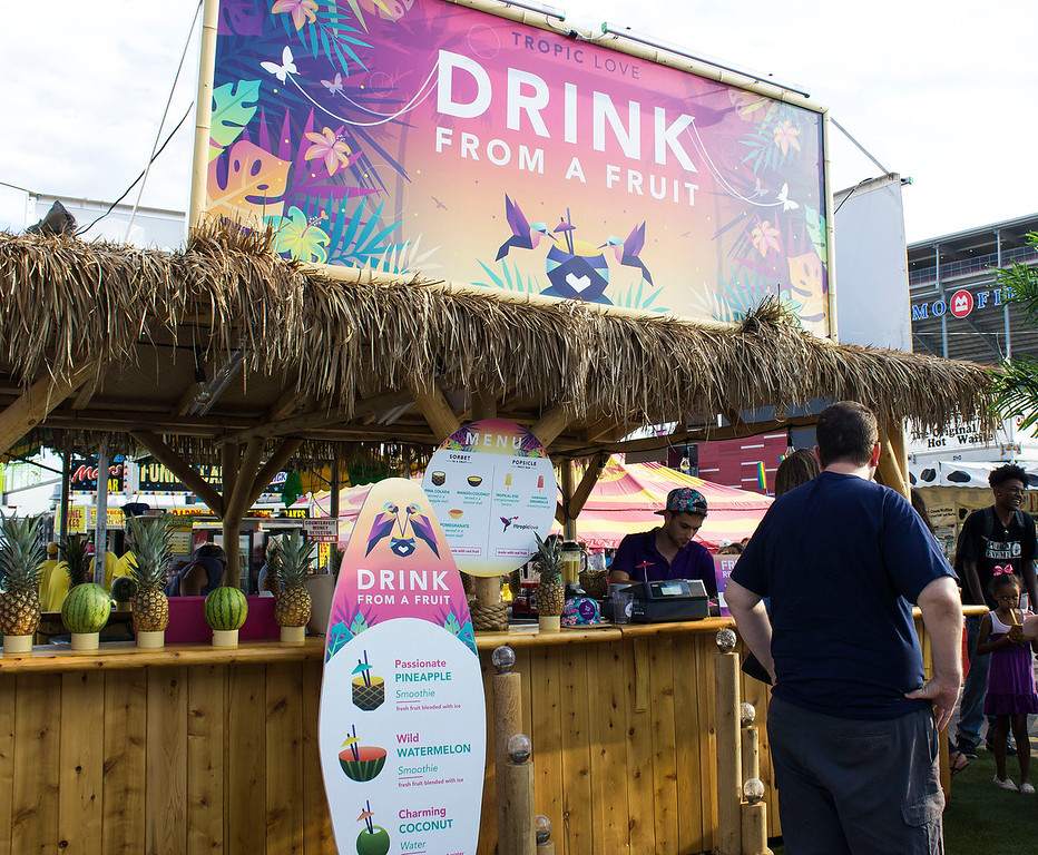 Drink from a fruit - Tropic Love - The CNE in Toronto