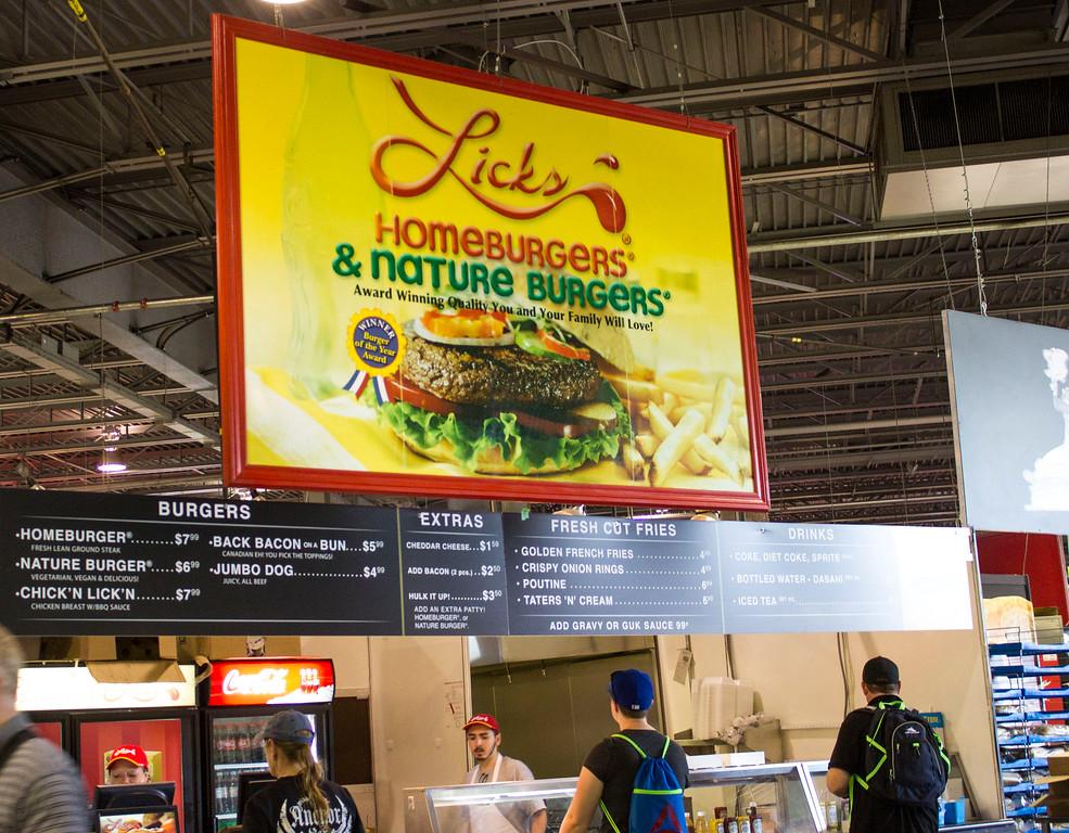 Lick's Burgers - CNE food