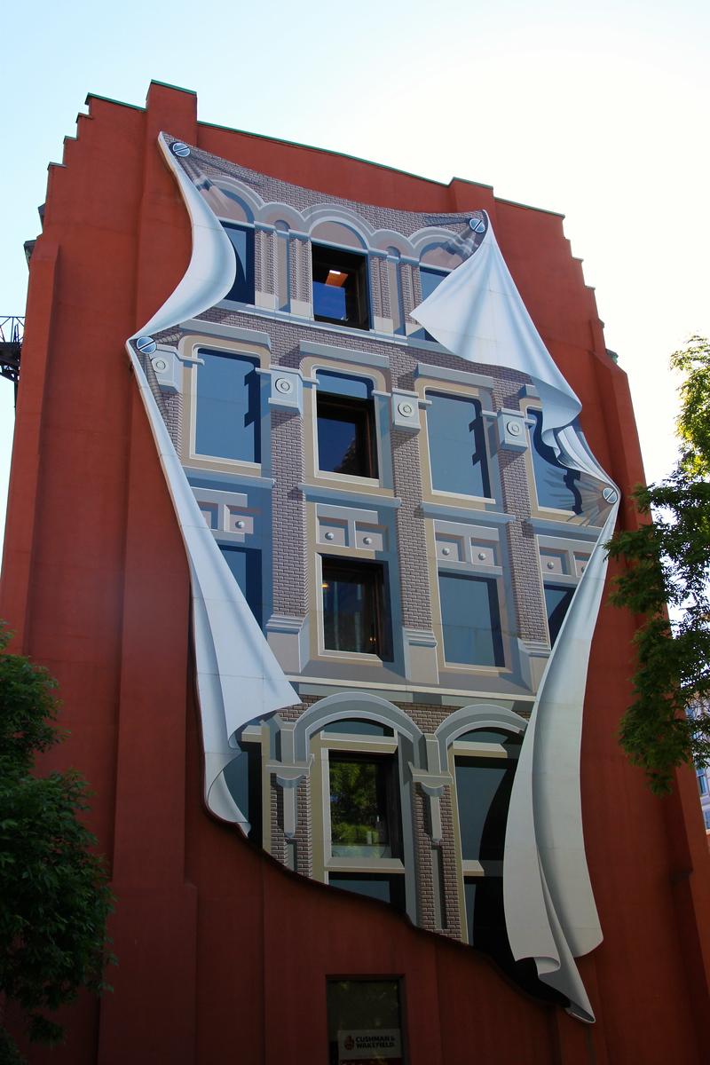 Fake Building Facade Street Art - Toronto, Ontario - Photo