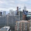 View on Downtown Toronto's urban density.