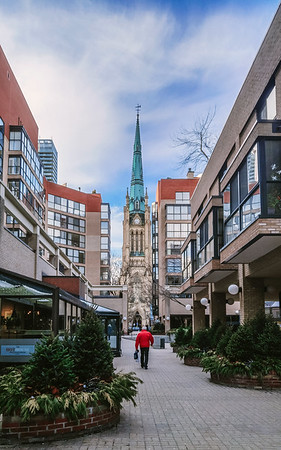 View on the Cathedral Church of St. James in downtown Toronto.