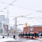 Winter scene in downtown Toronto.