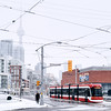 Winter scene in downtown Toronto.