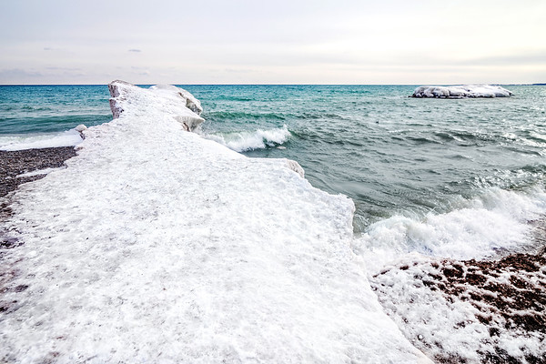 Wintry Landscape at The Beach in Toronto