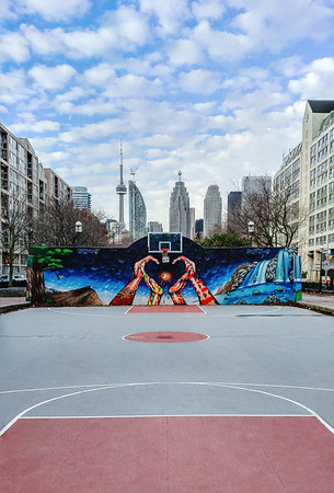 Basketball court in Toronto