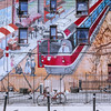 Mural in Roncesvalles Village in the city of Toronto, Ontario, Canada.