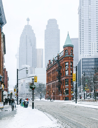 Winter in Toronto, Canada.