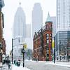 Winter in Toronto, Canada.