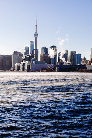 View on Toronto from Polson Pier