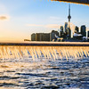 Ice at Polson Pier in Toronto