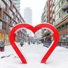 Heart installation in Toronto's Distillery District