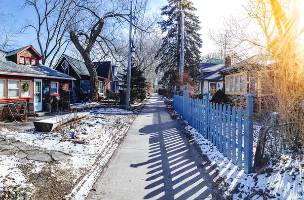 Residential area on Ward's Island, Toronto