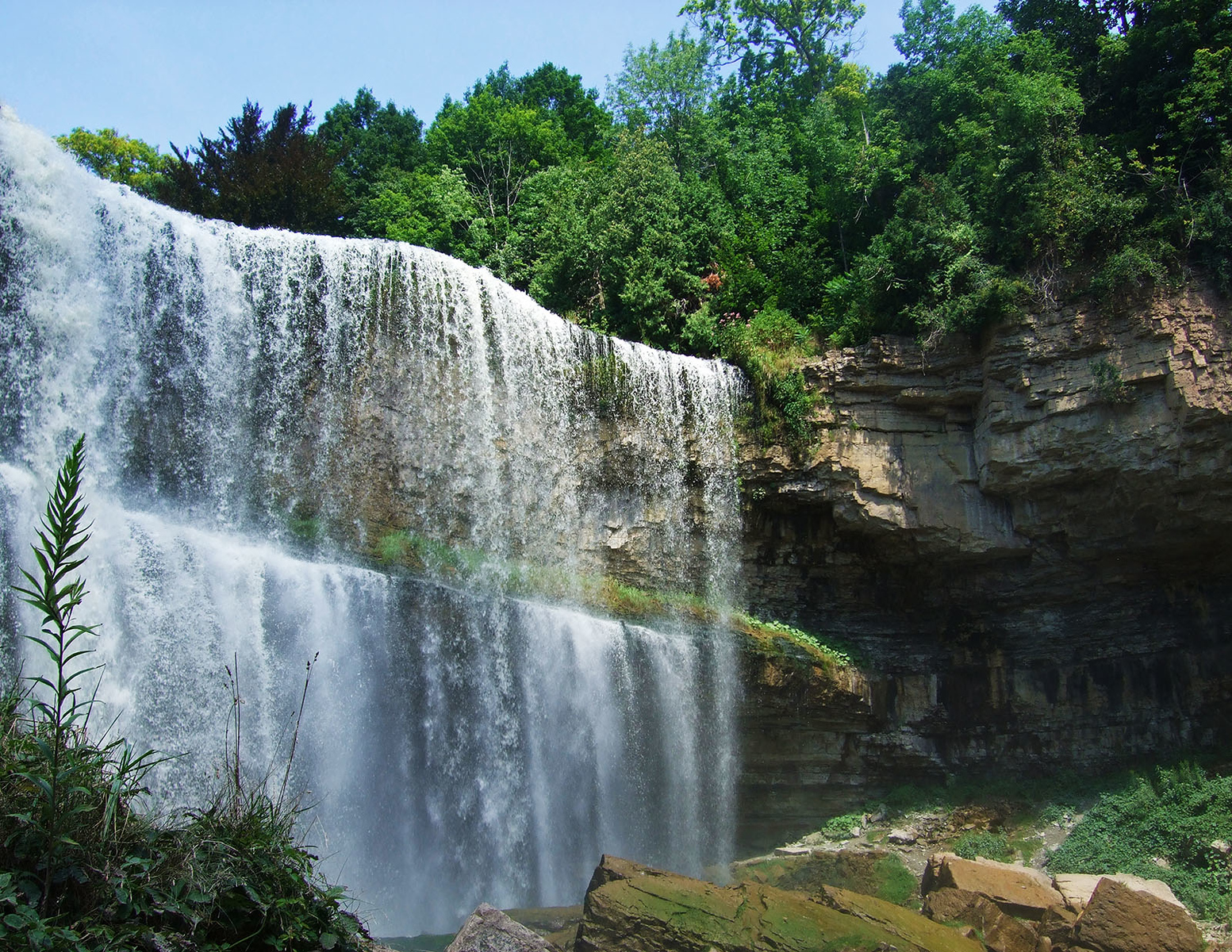 An Insider's Guide to Hiking the Dundas Peak & Tews Falls - Websters Falls from the bottom