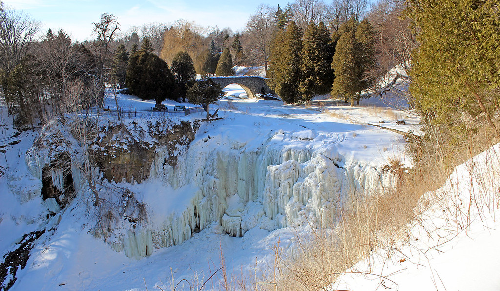 Webster's Falls in the winter