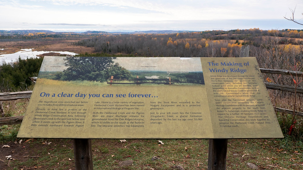 Sign at the panoramic lookout