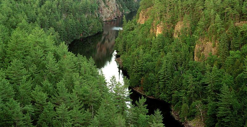 A view of Barron Canyon, Algonqin Park, Ontario Canada