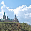 Parliament Hill above the Ottawa River