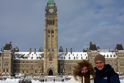 Heather and Rob at the Parliament - Ottawa, ON ... January 2, 2010 ... Photo by Emily Page