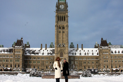 Emily and Heather hanging out at Parliament - Ottawa, ON ... January 2, 2010 ... Photo by Rob Page III