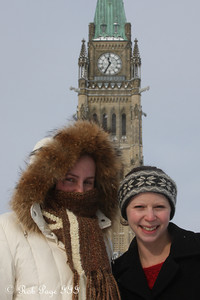Heather and Emily enjoying the cold day - Ottawa, ON ... January 2, 2010 ... Photo by Rob Page III