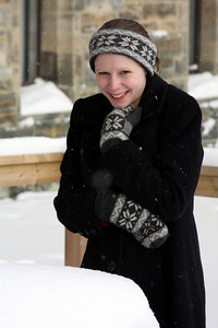 Emily enjoys the winter cold - Ottawa, ON ... January 2, 2010 ... Photo by Rob Page III