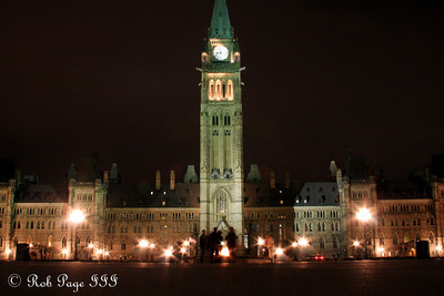 The Peace Tower rises above Parliament - Ottawa, ON ... September 26, 2009 .. Photo by Rob Page III