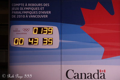 The countdown to the Olympics - Ottawa, ON ... September 26, 2009 .. Photo by Rob Page III
