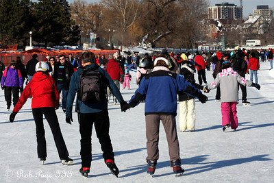 Mom and Dad skating on the Rideau Canal - Ottawa, ON ... February 5, 2011 ... Photo by Rob Page III