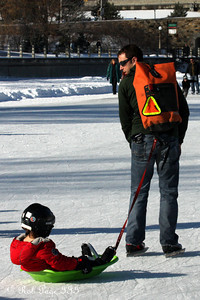 Traveling on the Rideau Canal - Ottawa, ON ... February 5, 2011 ... Photo by Rob Page III