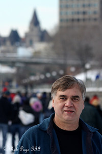 Dad on the Rideau Canal - Ottawa, ON ... February 5, 2011 ... Photo by Rob Page III