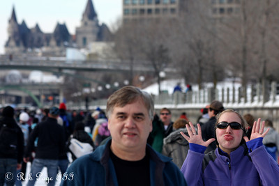 Heather and Dad on the Rideau Canal - Ottawa, ON ... February 5, 2011 ... Photo by Rob Page III