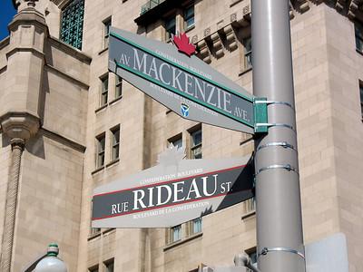 Street Signs in Ottawa