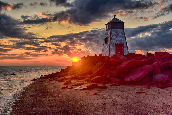 Beach Point Lighthouse at sunrise