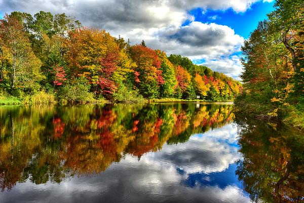 November 2019 - Gorgeous reflection in Mooney Pond PEI