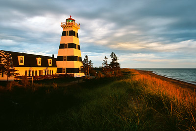 West Point Lighthouse, sunset