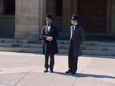 During the Summer months, on the steps of the PEI Legislature, actors portray the Fathers of Confederation and discuss the birth of a nation.