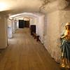 Quebec, Augustine monastary 17th Century hallway & caves