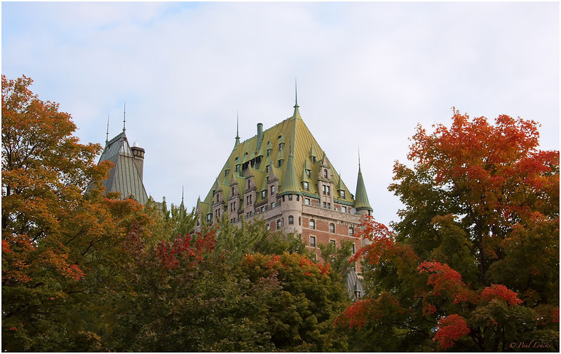 The Chateau Frontenac across the park from our petite hotel