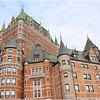 The iconic Chateau Frontenac up-close