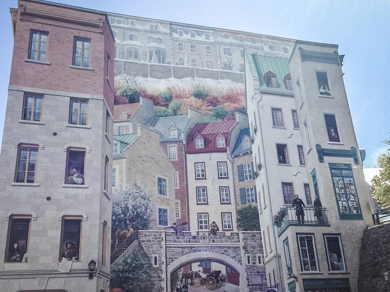 old quebec city mural