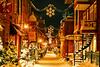 Streets of Quebec City at night - December