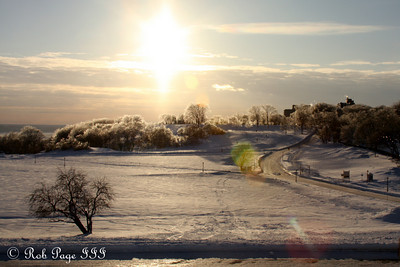 Looking out over the Plains of Abraham - Quebec City, QC ... December 30, 2009 ... Photo by Rob Page III