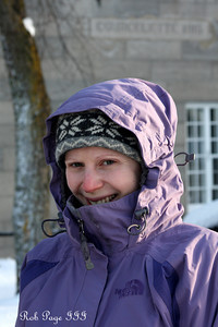 Emily is a little frozen at the Citadelle of Quebec - Quebec City, QC ... December 30, 2009 ... Photo by Rob Page III