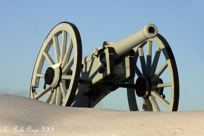 A cannon at the Citadelle of Quebec - Quebec City, QC ... December 30, 2009 ... Photo by Rob Page III