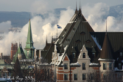 Steam and spires - Quebec City, QC ... December 30, 2009 ... Photo by Rob Page III