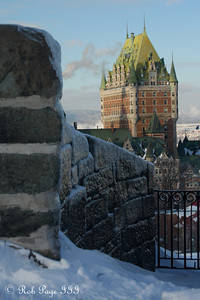 The Chateau Frontenac from the Citadelle of Quebec - Quebec City, QC ... December 30, 2009 ... Photo by Rob Page III
