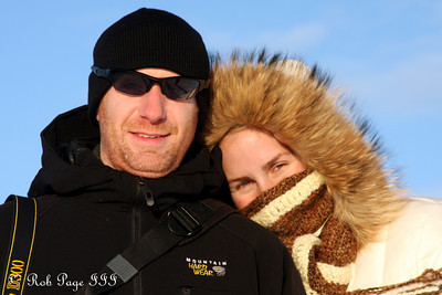 John and Heather enjoy the icy day - Quebec City, QC ... December 30, 2009 ... Photo by Rob Page III