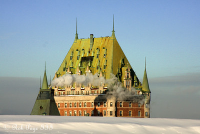 The Chateau Frontenac rises above the Citadelle of Quebec - Quebec City, QC ... December 30, 2009 ... Photo by Rob Page III