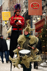 Christmas music in the streets - Quebec City, QC ... December 31, 2009 ... Photo by Rob Page III